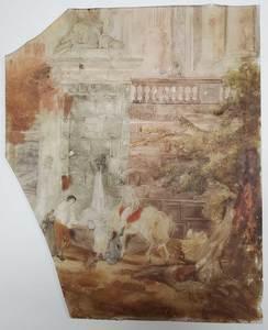 Italian School Glass Painting