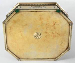 Puiforcat Gilt Silver Box with Large Topaz