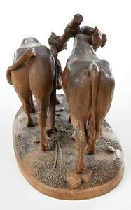 Fine Huggler Black Forest Carved Figural Group