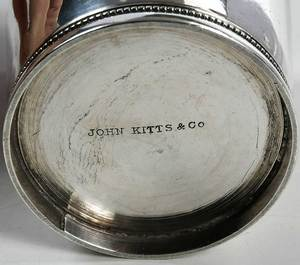 Four Southern Coin Silver Juleps