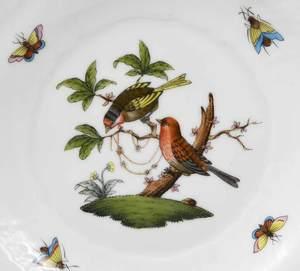 29 Piece Herend Rothschild Bird, Queen Victoria