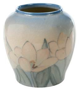 Rookwood Vellum Tulip Vase, Kataro Shirayamadani