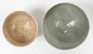 Five Korean Celadon Ceramic Vessels