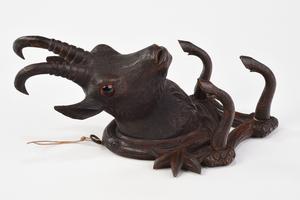 Black Forest Carved Shamois Hat Rack