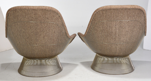Pair of Platner Knoll High Back Lounge Chairs