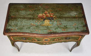 Venetian Baroque Paint Decorated Gilt Wood Table
