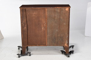 George III Figured Mahogany Bow Front Chest