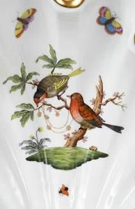 Four Herend Rothschild Bird Serving Pieces