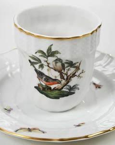 18 Pieces Herend Accessories, Rothschild Bird