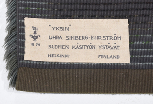 Two Friends of Finnish Handicrafts Tapestries