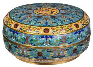 Large Chinese Cloisonne Covered Box