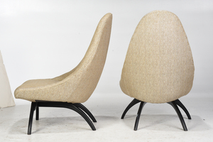 Pair of Mid Century Modern Upholstered Chairs