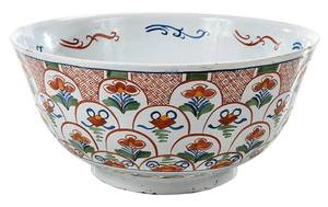 Delft Polychrome Punch Bowl