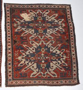 Two Similar Sunburst Kazak Rugs