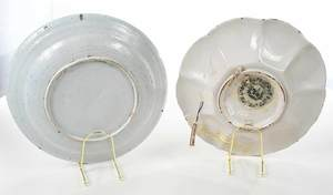 Two Polychrome Delft Dishes