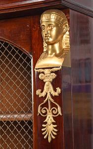 Empire Style Ormolu Mounted Grill Door Cabinet