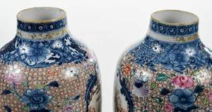 Fine Pair Chinese Export Lidded Garniture
