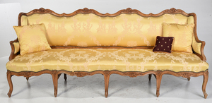 Provincial Louis XV Carved Sofa