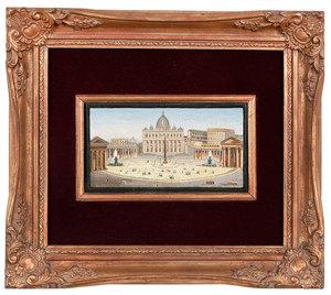 Micromosaic Plaque, St. Peter's Square, Rome
