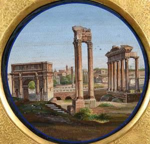 Fine Micromosaic Plaque of Roman Forum