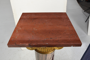 Fine French Neoclassical Bronze and Marble Pedestal