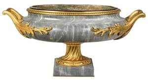 Large Louis XVI Style Marble and Bronze Urn
