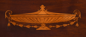 Neoclassical Urn Inlaid Mahogany Games Table