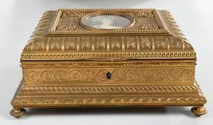Fine French Doré Bronze Dresser Box
