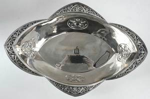 French Silver Oval Center Bowl