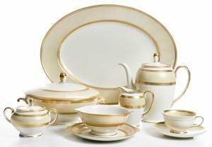 118 Pieces of Gilt Rosenthal Porcelain Service