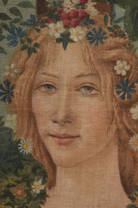 Painted Tapestry Style Panel After Botticelli