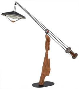 Large Driftwood Floor Lamp