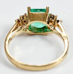 14kt. Emerald and Diamond Ring