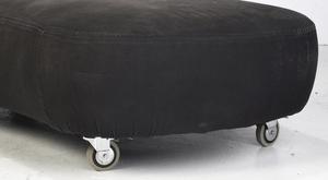 Modern Black and White Upholstered Flexform Sofa