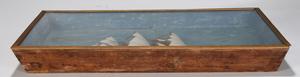 Paint Decorated Schooner Ship Diorama