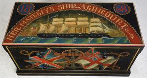British Maritime Paint Decorated Sea Chest