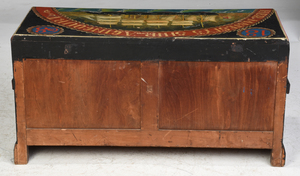 British Maritime Paint Decorated Sea Chest