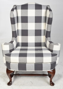 Queen Anne Style Upholstered Armchair