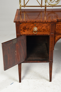 Georgian Inlaid Figured Mahogany Sideboard