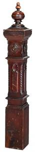 Victorian Carved and Turned Newell Post