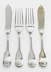Christofle Vendome-Arcantia Silver Plate Flatware, 24 Pieces