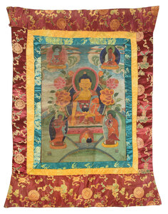 Painted Tibetan Thanka