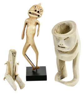 Three Greenlandic Inuit Carved Figures