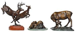 Three Forest Hart Sculptures