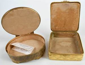 Two Small Doré Bronze Dresser Boxes