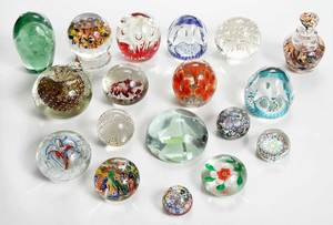 Collection of 18 Vintage Paperweights