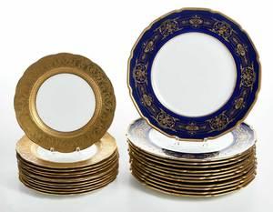 Cobalt and Gilt Dinner and Dessert Plates