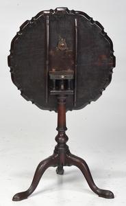 George II Mahogany Pie Crust Tea Table