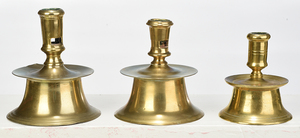 Three Early Continental Candlesticks