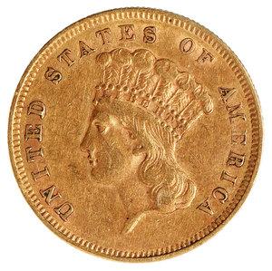 1856-S Three Dollar Gold